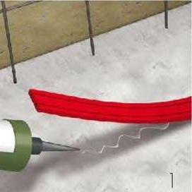 Термопластична експандираща лента за хидроизолация на конструктивни фуги AQUAFIN-CJ6